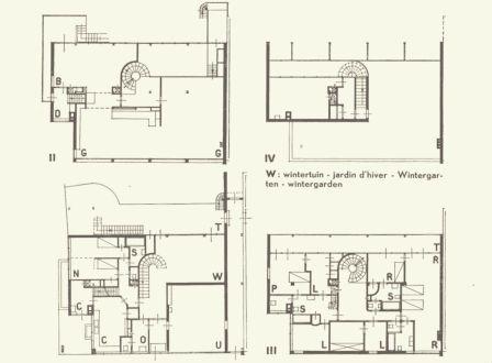 Op niveau III werd P de zitkamer en L met de orgelkamer de slaapkamer