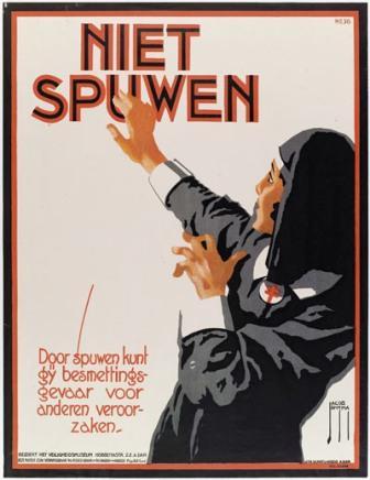 Affiche tegen het besemttingsgevaar van TBC, 1922, Jacob Jansma