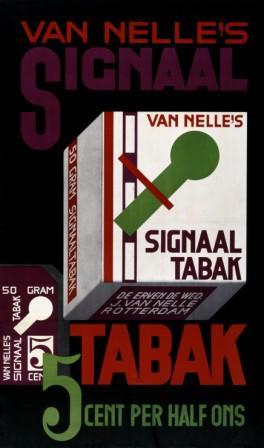 Affiche Van Nelle's Signaaltabak, Jac. Jongert, ca. 1935