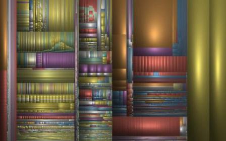 De harde schijf van de computer van Jack van Wijk, gevisualiseerd met het programma Sequoia View.