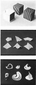 Oefeningen elementair ruimtelijk vormen 1967, Akademie voor Beeldende Kunsten Arnhem.