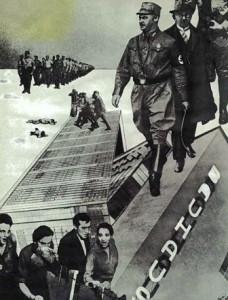 Fotomontage Der Schlag gegen das Bauhaus, 1932, Iwao Yamawaki.