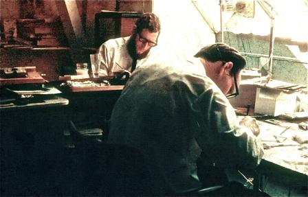 Thomas Posthuma en Toon Kluck, circa 1965.