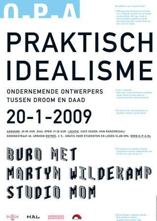 Praktisch idealisme, Simons en Boom, ontwerpcafe januari 2009.