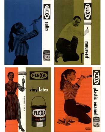 Advertentie voor Flexa, Ko Kwninkelenberg, jaren zestig.