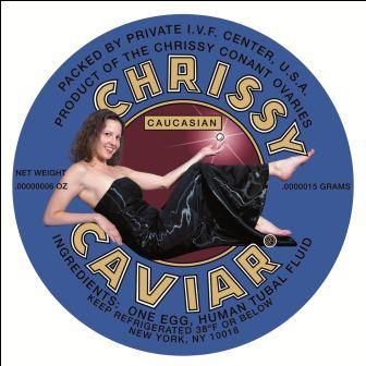 Label Chrissy Caviar 2007 (met toestemming van de kunstenaar)