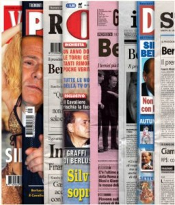 Berlusconi-omslag VPRO Gids, Piet Schreuders 2002 (nr 39).