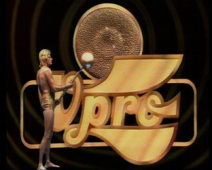 VPRO-logo, stationcall van Jaap Drupsteen, 1971.
