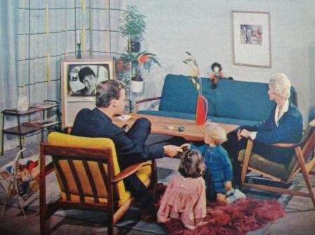 Interieur uit tijdschrift Margriet 1959.