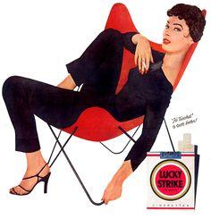 Vlinderstoel in Lucky Strike reclame