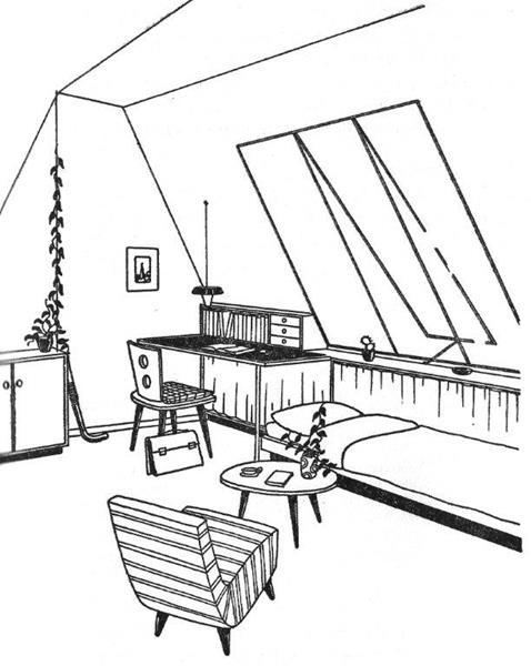 schuine pootjes: geen bezwaar, uit Simons Baedeker 1962.