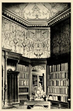de bibliotheek voor Mesdag, 1889.