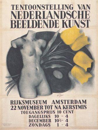 Affiche voor de expositie in het Rijksmuseum, 1942, maker onbekend.