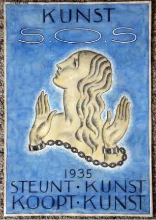 Affiche Steunt Kunst, Wouters 1935.