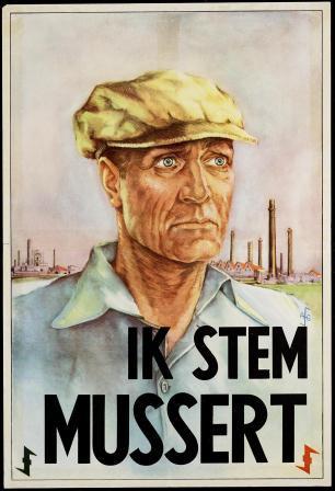 Affiche voor de NSB, Ganzert, 1937 coll. NIOD.