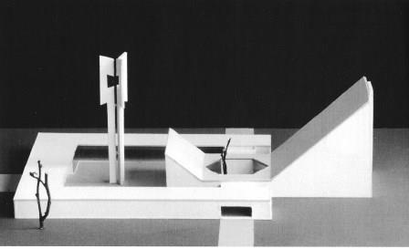 Maquette voor een kerkgebouw, 1955-56.