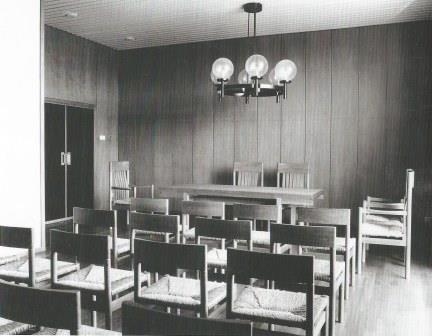 Trouwzaal in het stadhuis Genemuiden, 1967-68.
