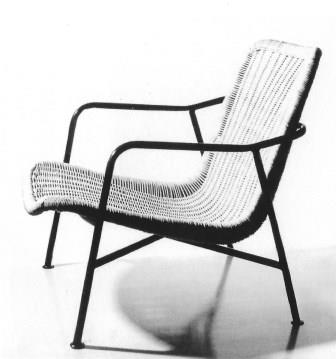 Rotan fauteuil 514, 1952.
