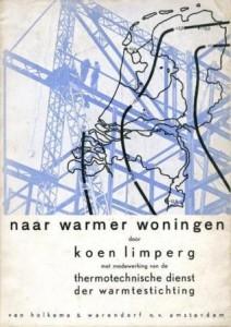 De publicatie Naar warmer woningen van Limperg, 1936, omslagontwerp Co-op 2.