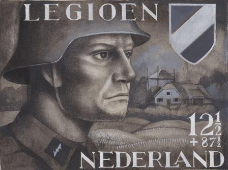 postzegelontwerp, Willem Nijs c. 1942, Museum voor communicatie.