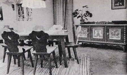 Meubelen van Rene Smeets in 1942.