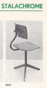 Kantoorstoel van Gispen uit de catalogus nr. 3, 1938.