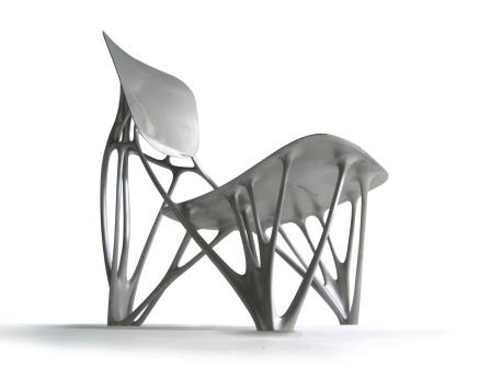 Bone Chair, 2014, aluminium.