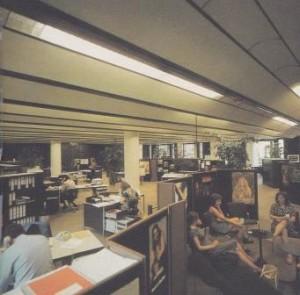 Interieur Phonogram Baarn, 1972.
