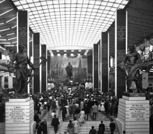 Expo 1958, the Russian pavilion, interior.