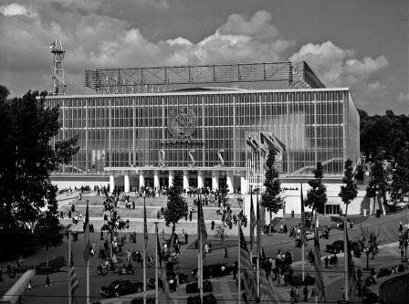 Expo 1958, het Russische paviljoen.