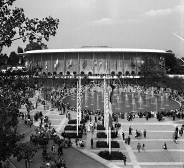 Expo 1958, het Amerikaanse paviljoen.