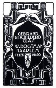 Atelier W. Bogtman, bedrijfslogo, ca 1917